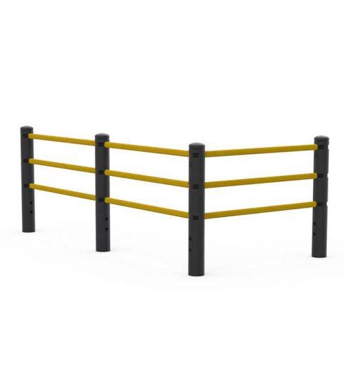 Flexande handräcken gångbarriär