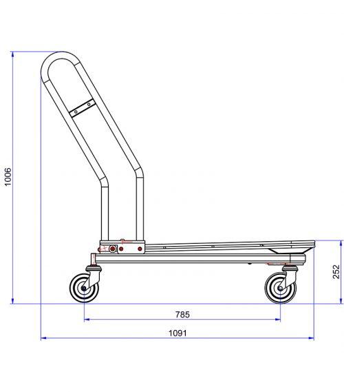 Volymvagn Max ritning